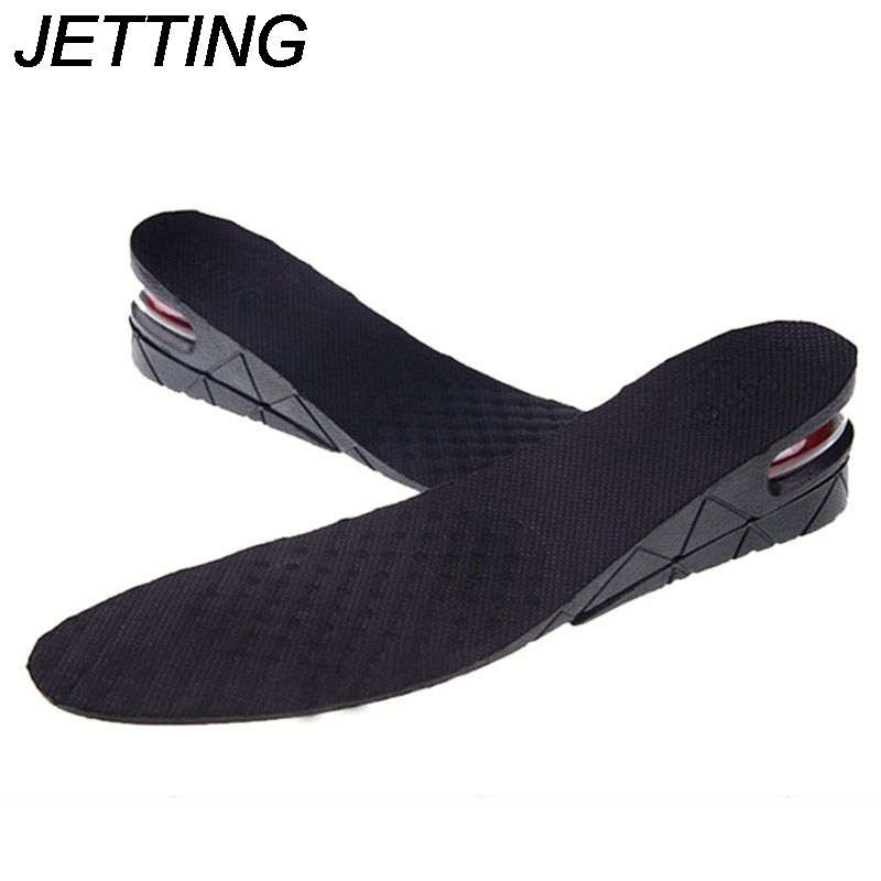 JETTING Breathable 2-Layer 5CM Air Bubble Cushion Shoe Lift Height Increase Heel Insoles Pair Taller For Men and Women