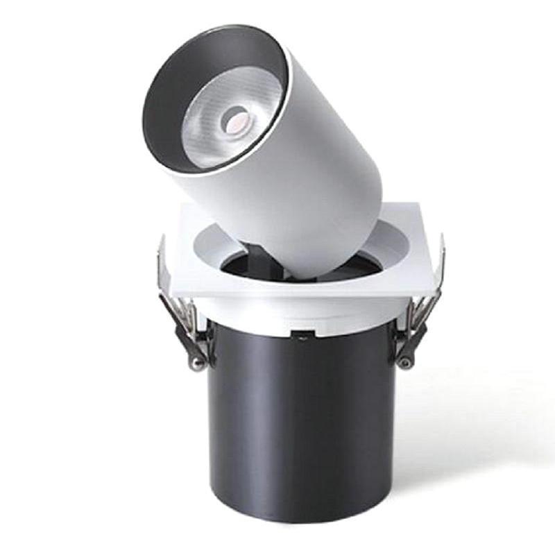 360 graus de rotação de 15W COB LED DownLight Pode Ser Escurecido AC110V AC220V AC240V LED Spot Downlight Recesso Branco casa