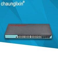 24 порты и разъёмы POE коммутатор 4 слот sfp gigabit 48 В POE питания af/at управляется без sfp модуль combo