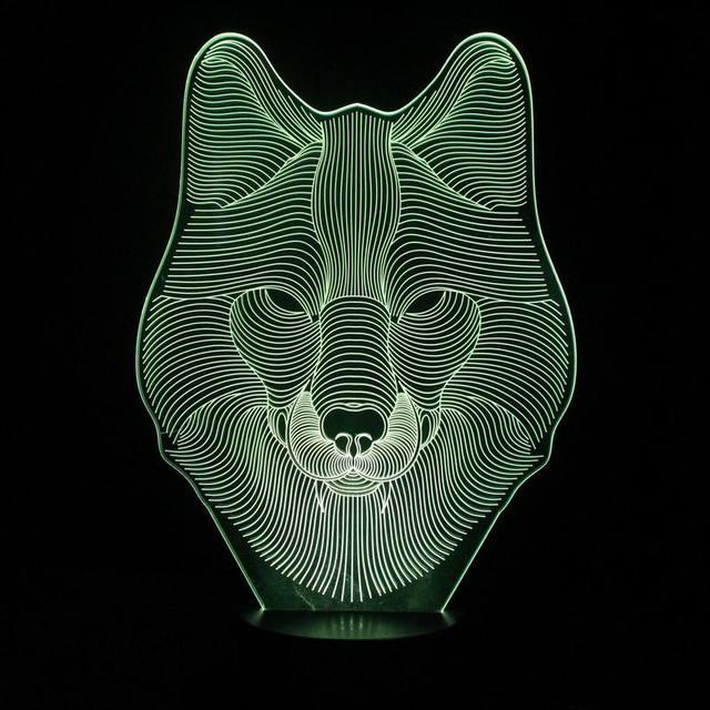 Divertido 3D Tridimensional Lámpara de Noche La Noche del LED con Animales Forma de Oso Lámpara de Escritorio como Lámpara de Habitación de Los Niños