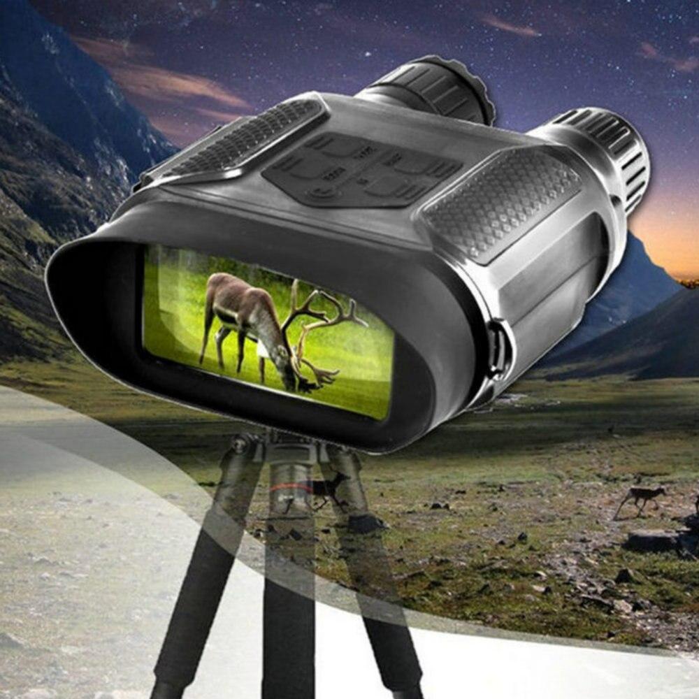 Цифровой Ночное видение бинокль для Охота 7x31 с 2 дюймов TFT ЖК-дисплей HD инфракрасная камера видеокамера 1300ft/400 м диапазон обзора