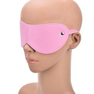 Image 4 - 1Pc Pu Leather Mask Belt Blindfold Fetish Bdsm Party Women Masquerade Eye Masks Erotic Goods For Sex Game  Erotic Accessories