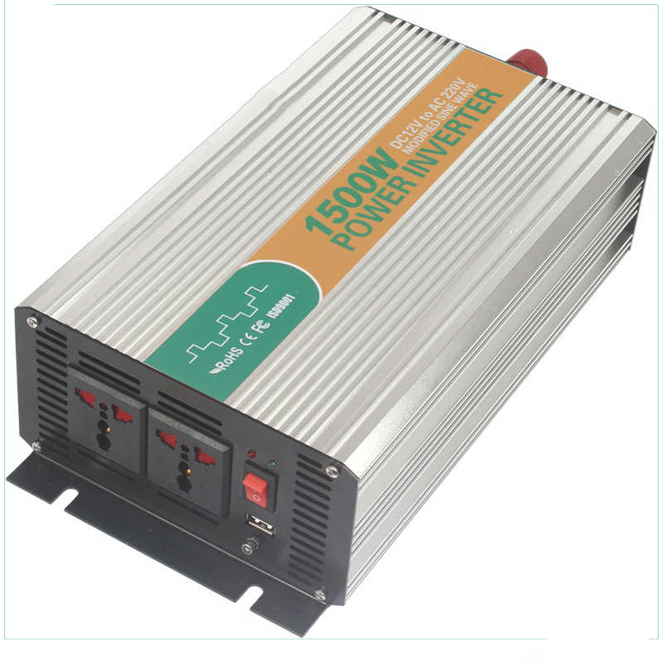 ФОТО M1500-122G modified sine wave tronic power inverter 12v 220v 1500w inverter spare parts for home application made in china