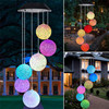 9 Kinds Solar Light Outdoors Powered LED Wind Chime Color Changing Spiral Wind Chime Outdoor Decorative Light Garden Light 1