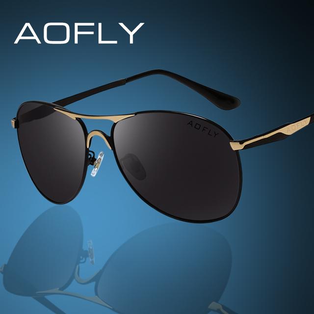 Aofly polarizado gafas de sol de marca gafas de sol para hombre de conducción gafas de sol de metal marco polaroid lente las gafas de diseño de marca