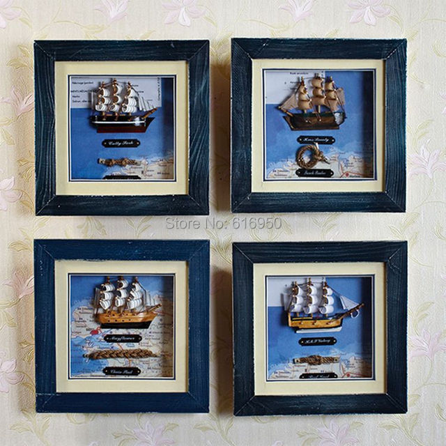 mediterranean style solid wooden plaque nautical decor wall hanging nautical frames nautical home decor christmas gifts - Nautical Picture Frames