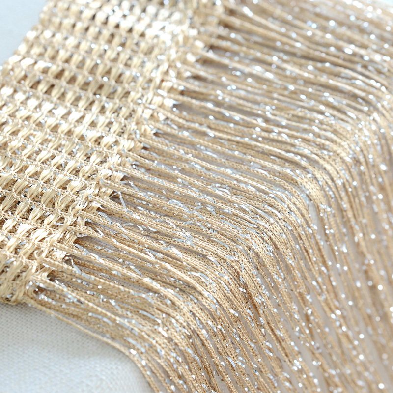 Window Glitter String Curtain Panel Fly Screen Room Divider Fringe Curtains