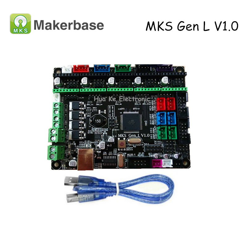 Original 3D Printer Controller Board MKS Gen-L V1.0 Compatible with Ramps1.4 MKS Gen L Support A4988/DRV8825/TMC2100/LV8729 цена