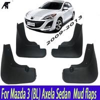 Araba Çamur Flaps Mazda 3 Için (BL) axela Sedan 2009 2013 Mudflaps Splash Muhafızları Çamur Flep Çamurluklar Çamurluk 2010 2011 2012 4 Adet Kalıplı|car mud flaps|mud flapssplash guard -