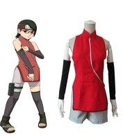 High Q Unisex Anime Cos NARUTO Uchiha Sarada cheongsam Cosplay Costume Sets