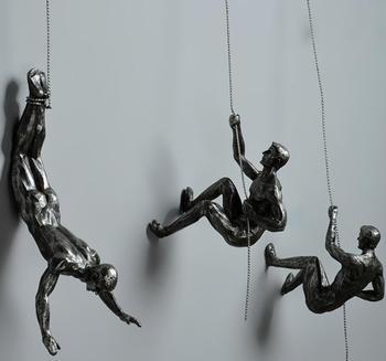 Figuras De Escalada En Roca Retro Creativas Figuras De Escultura De - Decoracion-figuras