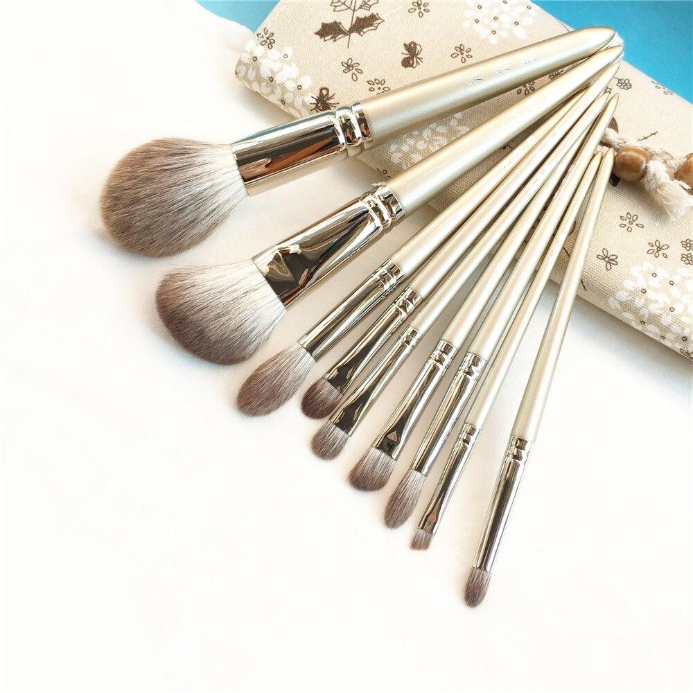 29 шт фирменные Кисточки для макияжа Профессиональные кисти для макияжа Набор высокого качества макияж набор с чехлом натуральная щетина ма... - 4