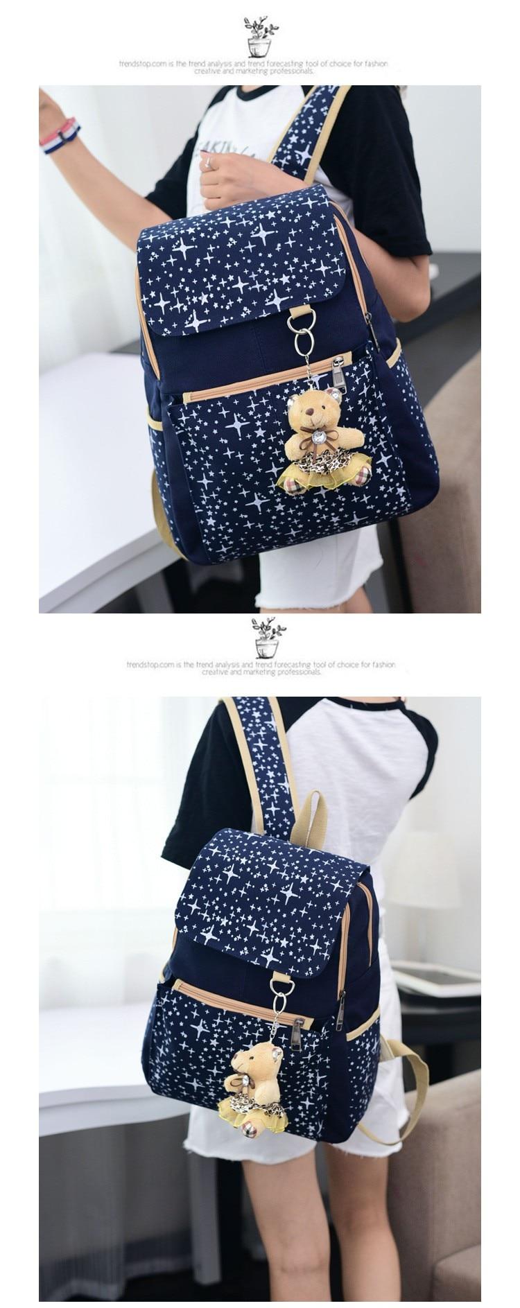 meninas crianças mochilas escolares sacos de viagem