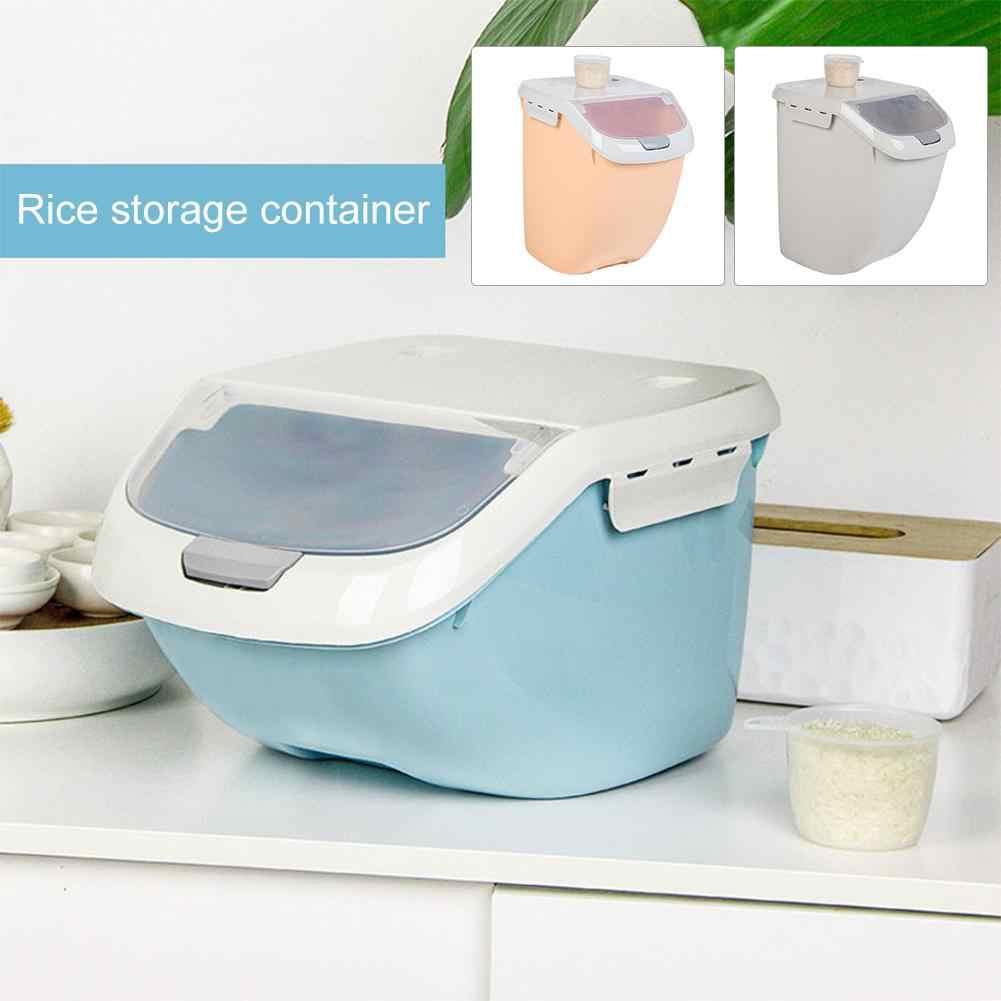 Recipiente de Armazenamento De arroz Macarrão Grão Umidade-prova de Cozinha do Agregado Familiar Barril com Projeto de Vedação para o Armazenamento de Recipientes De Cereais de Arroz