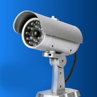 Dome Dummy Fake Surveillance Monitor CCTV Security Simulation Camera LED Flash Outdoor Fake Camera