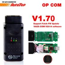 2017 OBD2 OP-COM V1.70 OPCOM для автомобиля opel диагностический сканер с реальными PIC18f458 для инструмента диагностики Opel OP COM flash прошивки