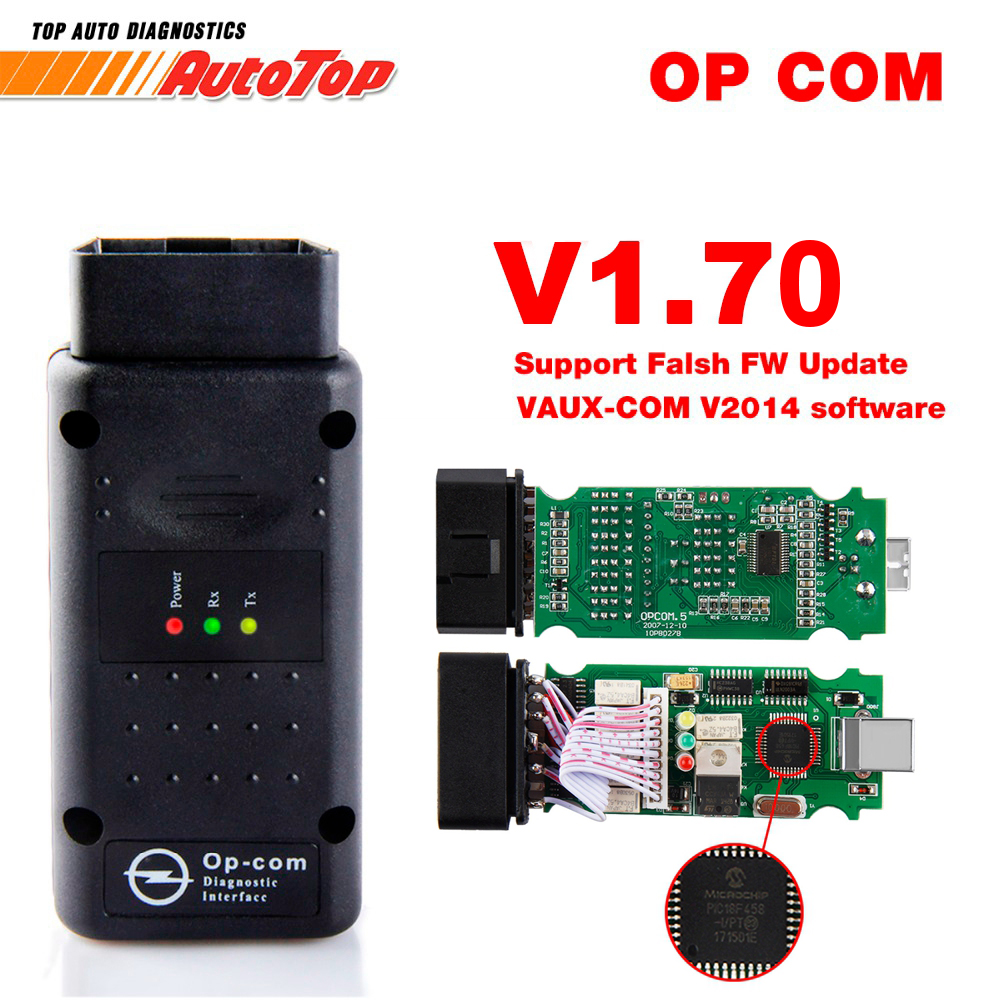 2017 OBD2 OP-COM V1.70 OPCOM for Opel Car Diagnostic Scanner with Real PIC18f458 for Opel OP COM Diagnostic Tool Flash Firmware