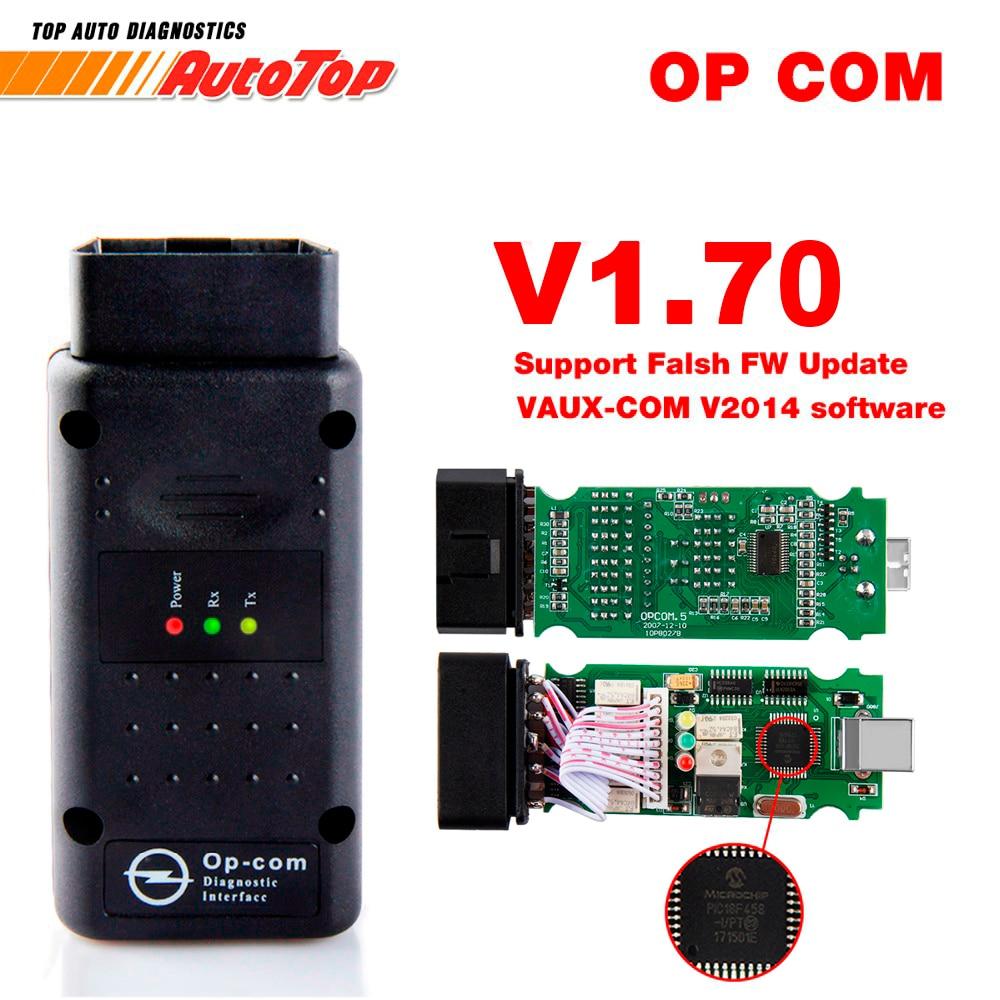 2018 OBD2 OP-COM V1.70 OPCOM for Opel Car Diagnostic Scanner with Real PIC18f458 for Opel OP COM Diagnostic Tool Flash Firmware
