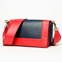Women's new hit color stylish leather square bag Europe and American stylish cross single shoulder diagonal bag