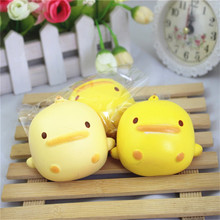 lovely Squishy Cute Yellow Duck Bread Phone Straps Slow Rising Bun Charms Gifts Toys