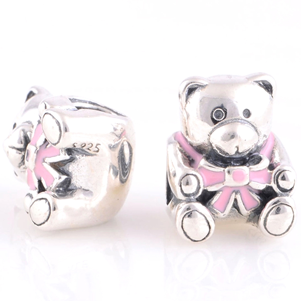 Fit For Pandora Bracelets Charms BABY GIRL TEDDY BEAR CHARM 791124EN24 03