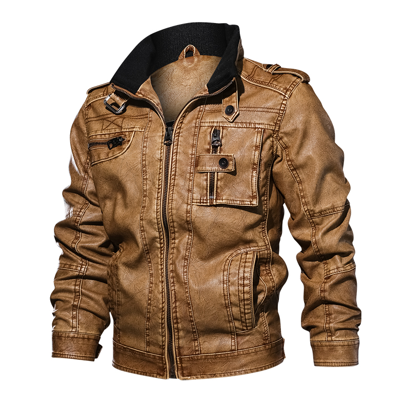 7  TACVASEN Males Tactical PU Leather-based Jacket Winter Army Bomber Jacket Slim Informal Jacket Autumn Motorbike Windbreaker Clothes HTB1YN lxYuWBuNjSszgq6z8jVXaH