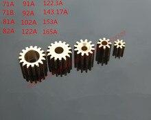 10pcs נחושת הילוך פליז הילוכים מיני פיר הילוך DIY מיקרו מנוע ותיבת הילוכים הזדווגות חלקים