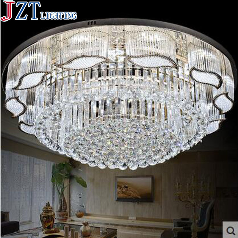 Z 2016 New S Gold European Style Living Room Crystal Ceiling Dome Light Circular Bedroom LED Lamp Hall Crystal Light ...