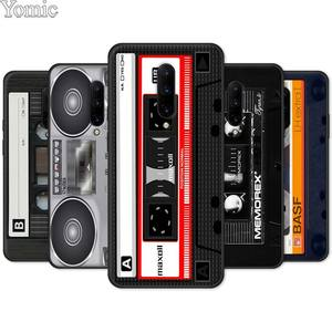 Phone Case for Oneplus 7 8 7T Pro 5G 6 6T Soft TPU Case for Oneplus8Pro Black Silicone Cover Retro Side Old Style Tape Cassette(China)