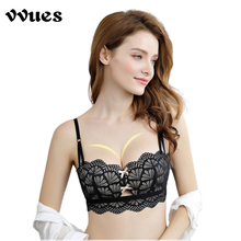 VVUES Sexy Bras For Women Ladies Cotton Underwear Push Up Bralette 2019 Brassiere 3/4 Cup Wireless Set Drop Ship