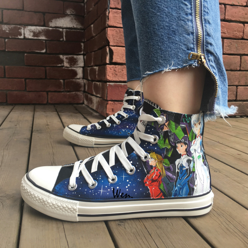 Wen Anime Design Custom Hand Painted Shoes Neon Genesis Evangelion Men  Women s High Top Canvas Sneakers Christmas Gifts - aliexpress.com -  imall.com a94b540212e0