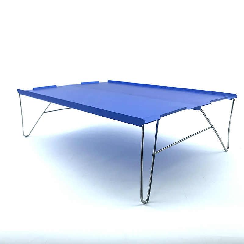 超軽量テーブル屋外ミニポータブルピクニックテーブルライトアルミ旅行テーブルキャンプ