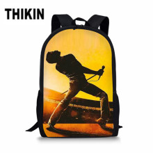 THIKIN Queen Band Bohemian Rhapsody Print Large Shoulder Backpack 3Pcs/set Students Bookbag Kids Children School Bags Custom