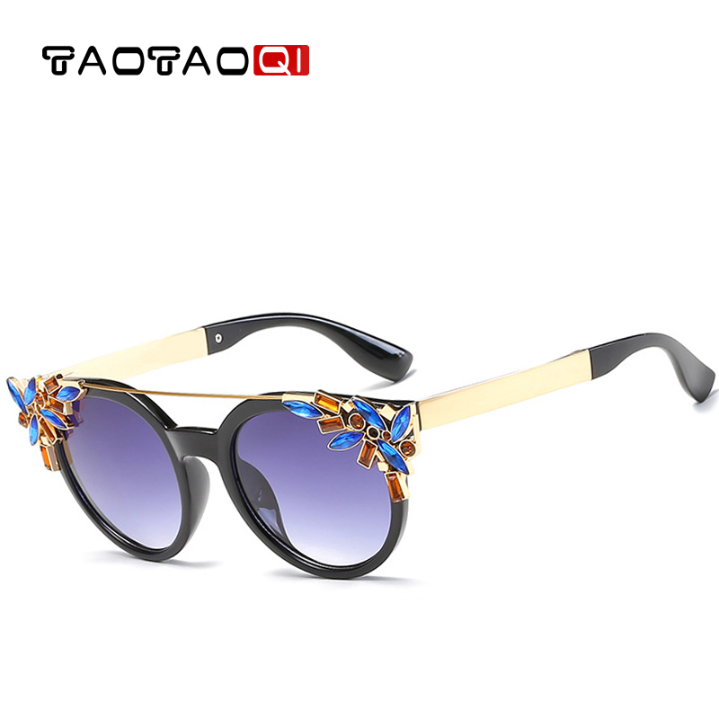 TAOTAOQI 2018 Sunglasses Women Brand Designer Luxury Sun Glasses Cat Eye Fashion Women Sunglasses UV400 Female Vintage Glasses