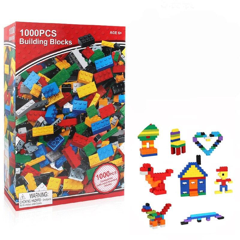 Legoing 1000Pcs Building Bricks Set City DIY Creative Brick Toys For Child Educational Building Block Bulk Compatible Legoinge