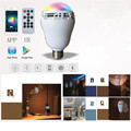 App Wireless Bluetooth LED Light Bulb RGB & White E27 Lamp with Audio Speaker Music Playing Controlled by Mobile Phone Tablet