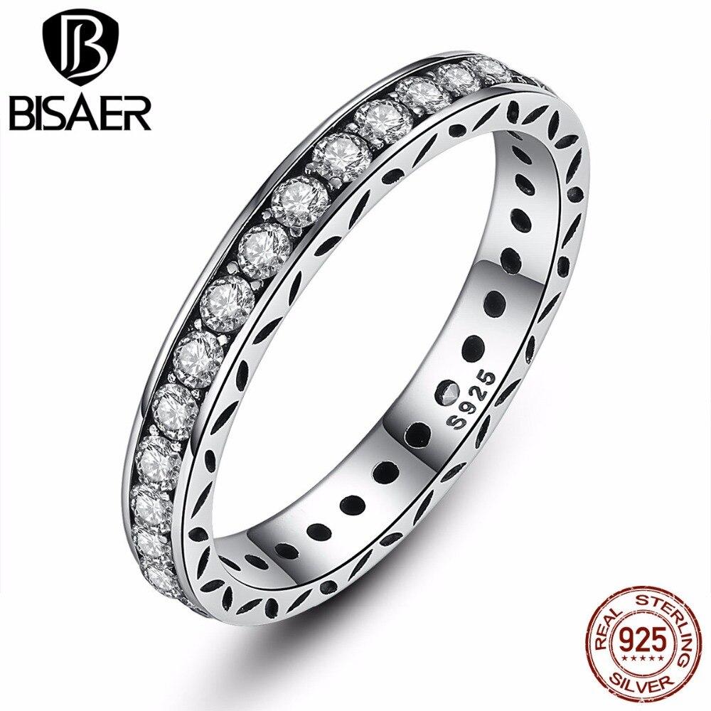 365ef9394ba8 Original 100% 925 plata esterlina auténtica joyería de lujo para las mujeres  corona anillo de compromiso joyería HJ7119