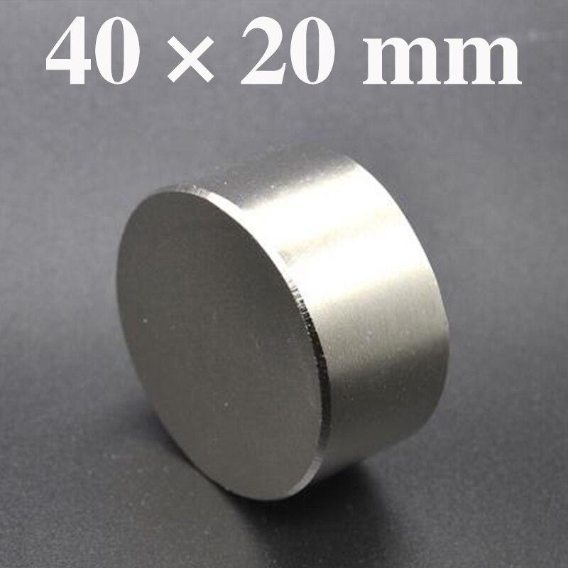 HYSAMTA 1 pz hot magnete 40x20mm N42 Rotonda forti magneti potente magnete Al Neodimio 40x20mm metallo magnetico 40*20mm
