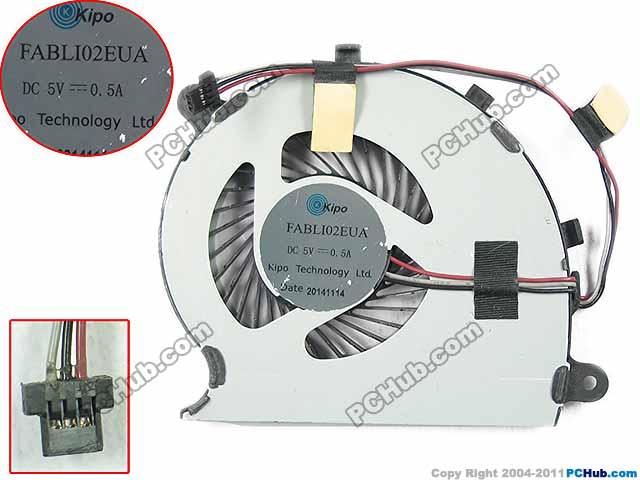 Free Shipping For Kipo FABLI02EUA DC 5V 0.50A 3-wire 3-pin Server Laptop Fan