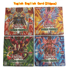 216pcs /set Yugioh Cards Kids Game Cards Toys English Version Boys Girls Yu Gi Oh Game Collection Cards Christmas Gift With Box(China)