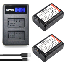 LCD Dual USB Charger + 2 pcs NP-FW50 FW50 NP Bateria Da Câmera para SONY NEX 5 T 5R 5N 5C 5TL 5CK A7 A7R F3 3N 3CA55 A37 A5000