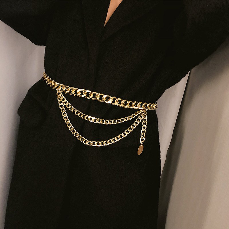 HTB1YNaqda5s3KVjSZFNq6AD3FXaJ - BLA Luxury Women Chain Belts Waistbands All-match Waist Gold Silver Multilayer Long Tassel Chain Belts For Party Jewelry Dress 3