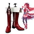Anime Puella Magi Madoka Magica Kyoko Sakura Cosplay Del Partido Rojo de Lujo Botas Por Encargo