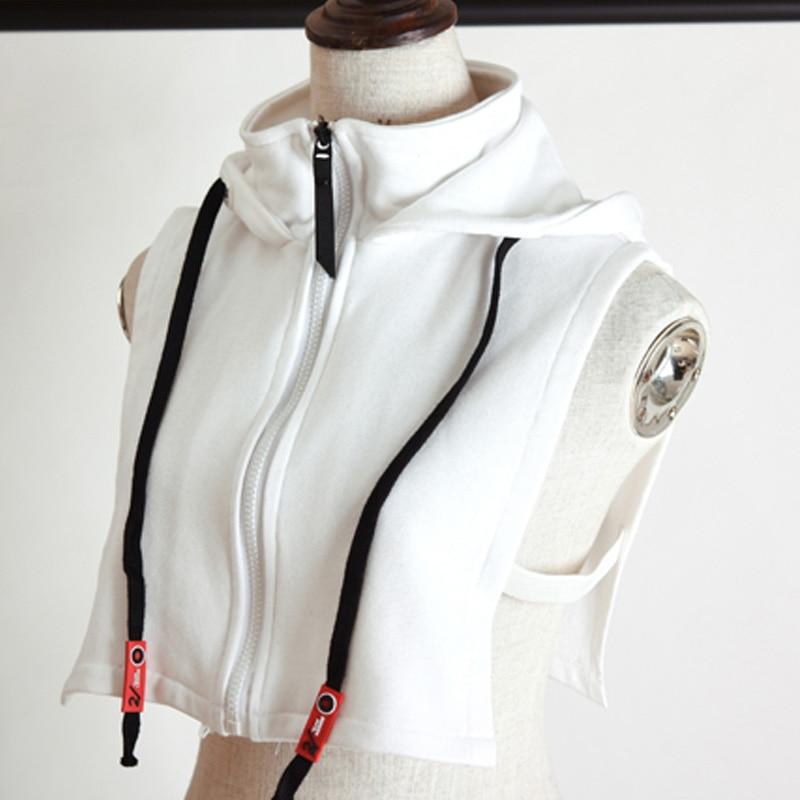 New Inside Hooded Unisex Elegant False Collar High Hooded Sweater Models Embroidered Elegant False Collar High Hooded Sweater