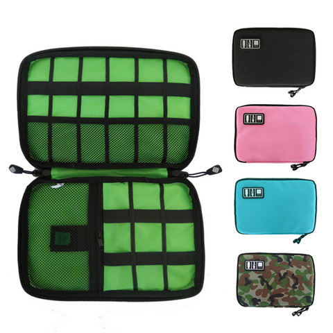 Gadget Cable Organizer Storage Bag Travel Electronic Accessories Cable Pouch Case USB Charger Power Bank Holder Digitals Kit Bag Pakistan
