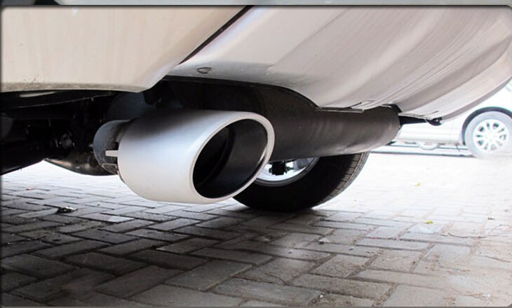 for 2009 - 2015 Renault Koleos dedicated throat modified special tail pipe aluminum thickening end pipe decoration for refires