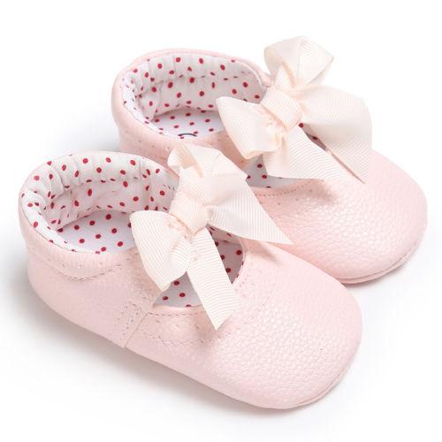 4428b50dae0b7 Cute Kids Baby Girls Shoes Bowknot Infant Slip-on Crib Newborn Shoes  Princess 0-18Months
