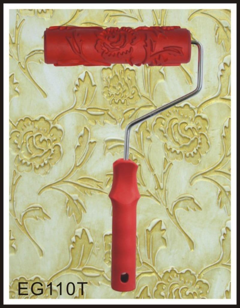 Ferramentas de Pintura Rolo de Pintura Textura Em Relevo Padrão decorativo para Parede de Borracha Pintura Airless Máquina Doméstica Escova EG110T