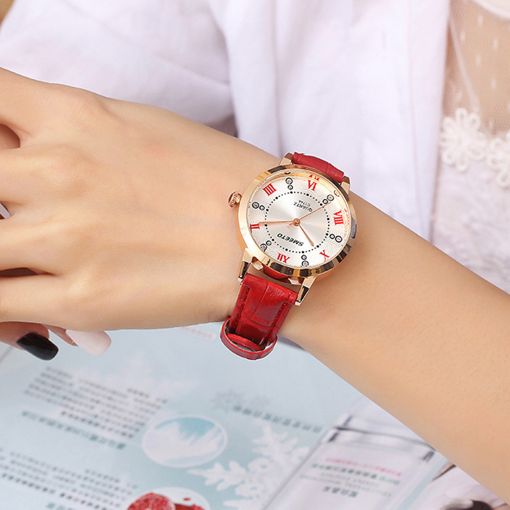 New Fashion Roman Numerals Watches Women Luxury Brand Leather Strap Watches Ladies Quartz Dress WristWatches Clock Reloj Mujer#S