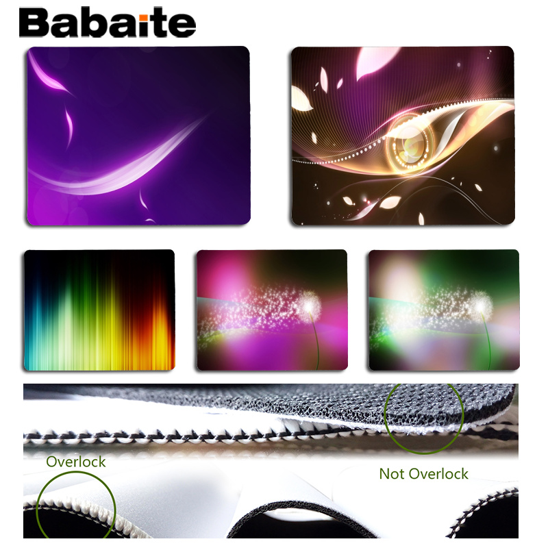 Babaite My Favorite Abstract design Office Mice Gamer Soft Mouse Pad Size for 18x22cm 25x29cm Rubber Mousemats